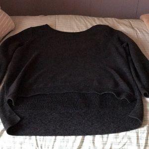 xl navy blue sweater longer in back